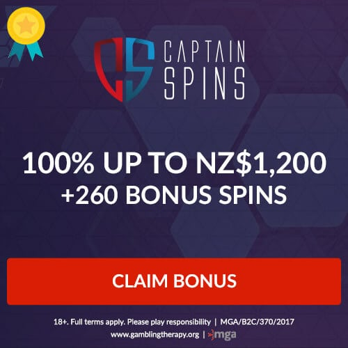captainspins mobile banner nz